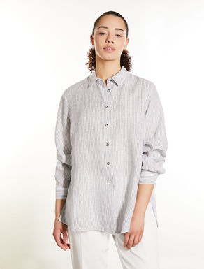 Lightweight striped linen shirt
