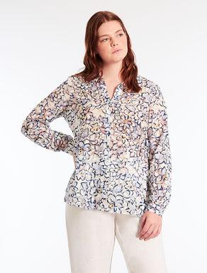 Printed dévoré shirt