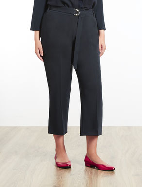 Stretch technical fabric trousers