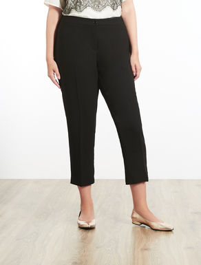 Slim-fitting crêpe trousers
