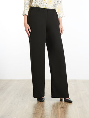 Envers satin crêpe trousers