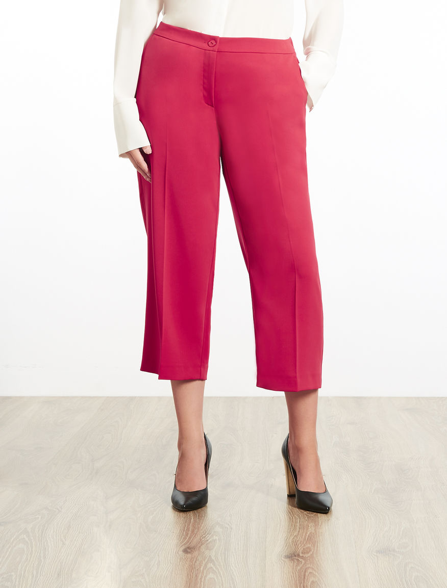 Cropped floaty fabric trousers