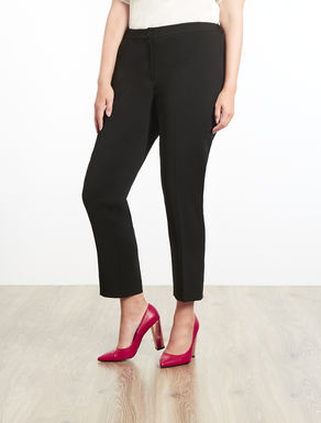 Stretch trousers in floaty fabric