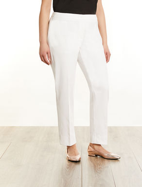 Cotton piqué trousers