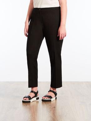 Cotton piqué trousers