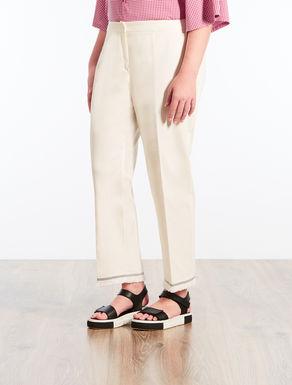 Pantaloni in piquet di cotone