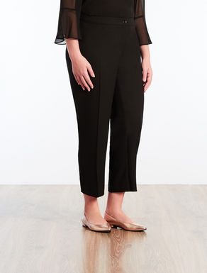 Pantaloni in crêpe envers satin