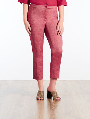 Pantaloni in lino stretch