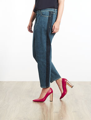 Jeans Girlfriend fit in denim stretch