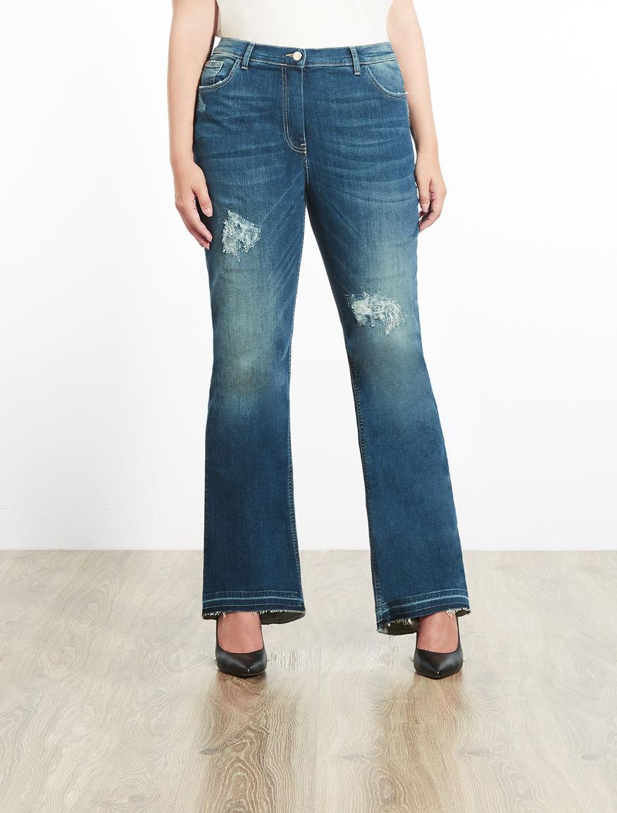Jeans flare in denim stretch