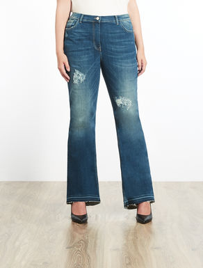 Jean flare en denim stretch