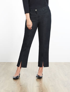 Slim-fitting stretch denim jeans