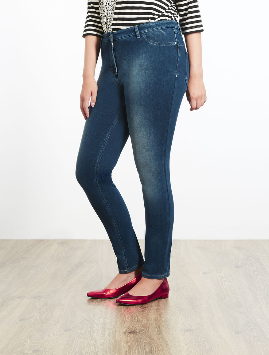 Jeans Jegging fit in jersey denim