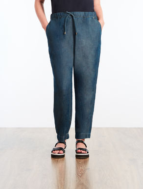 Pantalon en Tencel effet denim