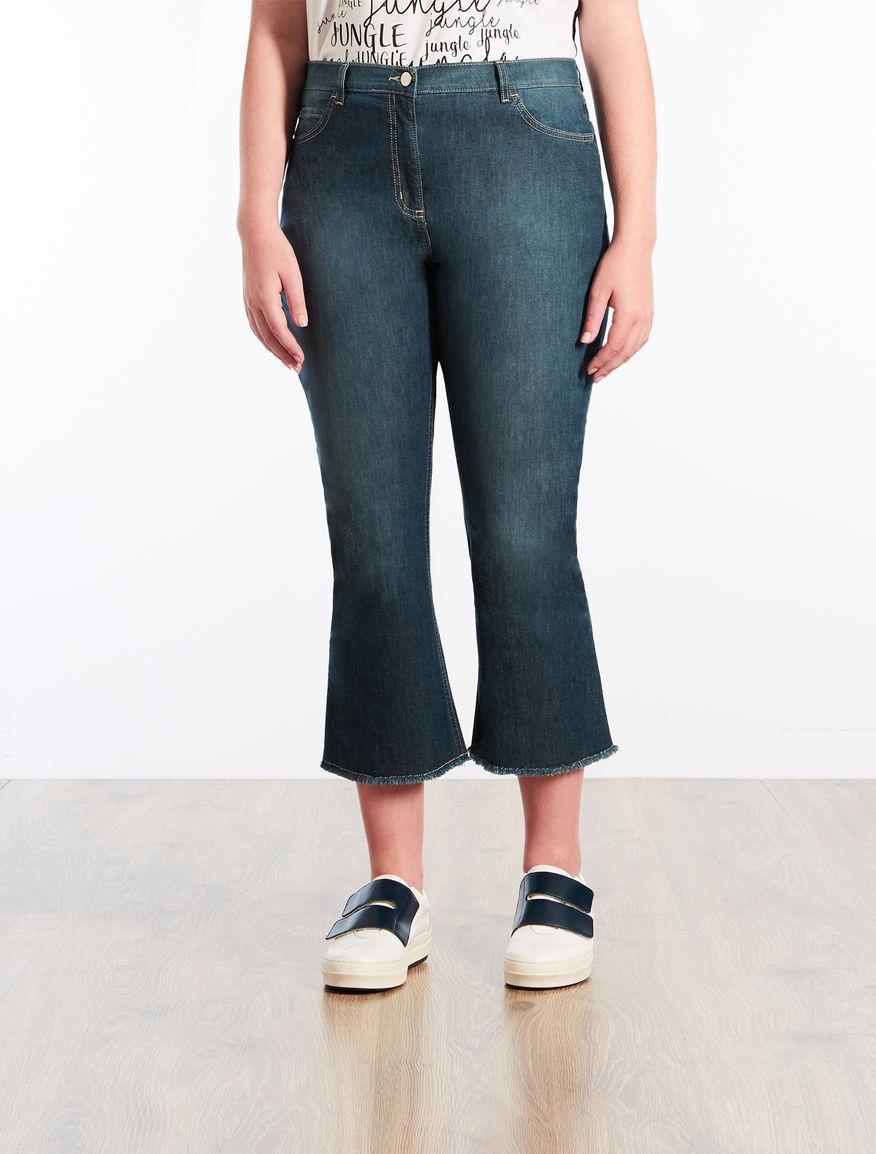 Jeans flare in denim leggero