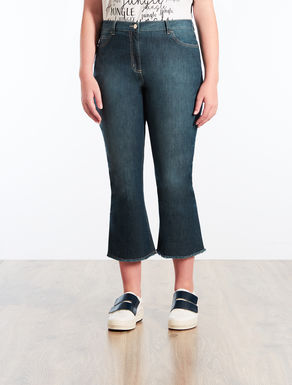 Flared lightweight denim jeans