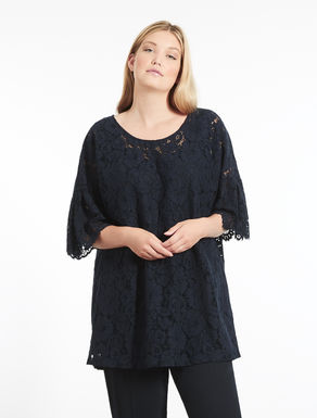 Embellished lace tunic