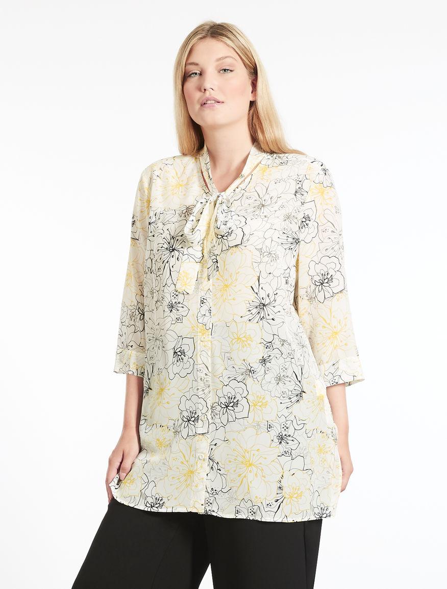 Camicia lunga in crêpe de Chine in seta