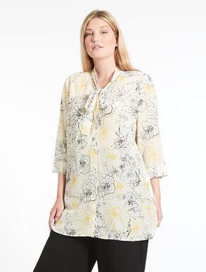 Long silk crêpe de chine shirt