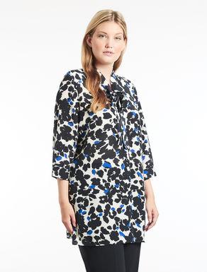 Long silk crêpe de chine shirt