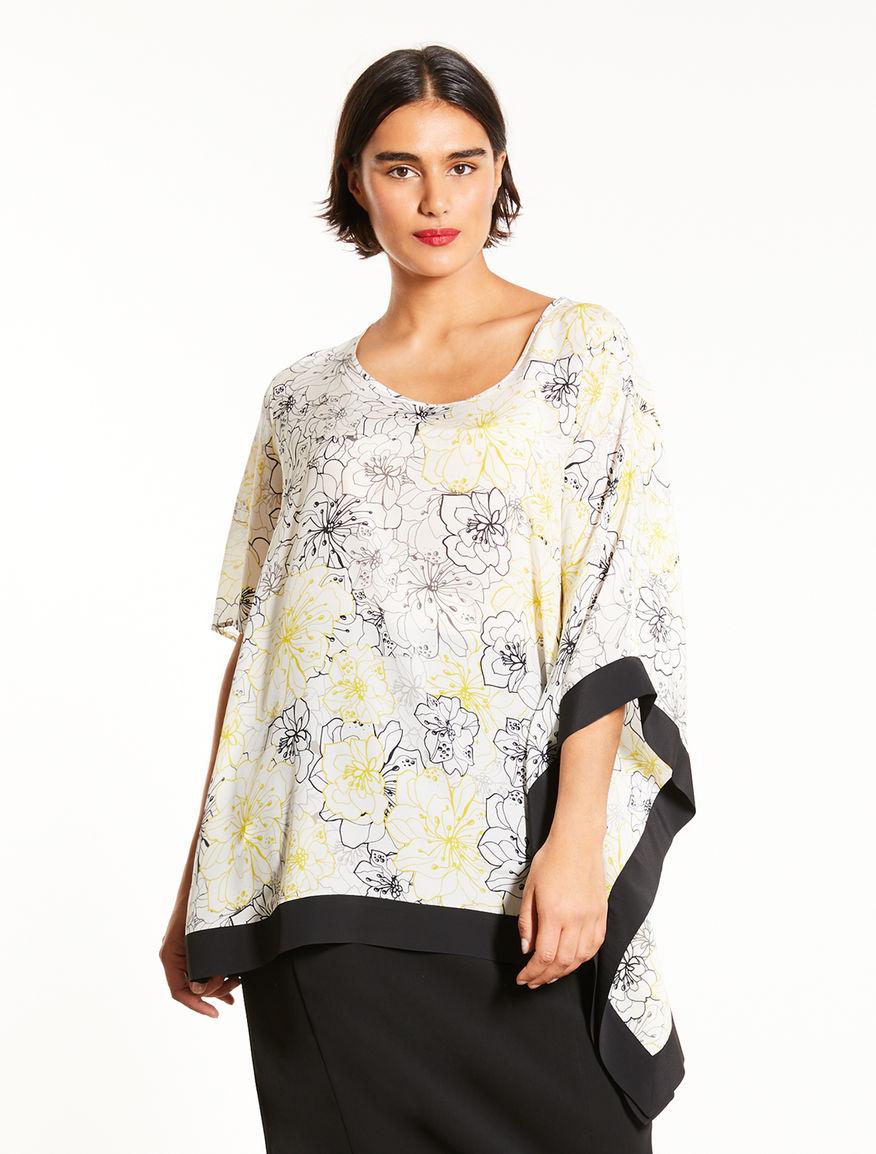 Silk crepe de chine tunic