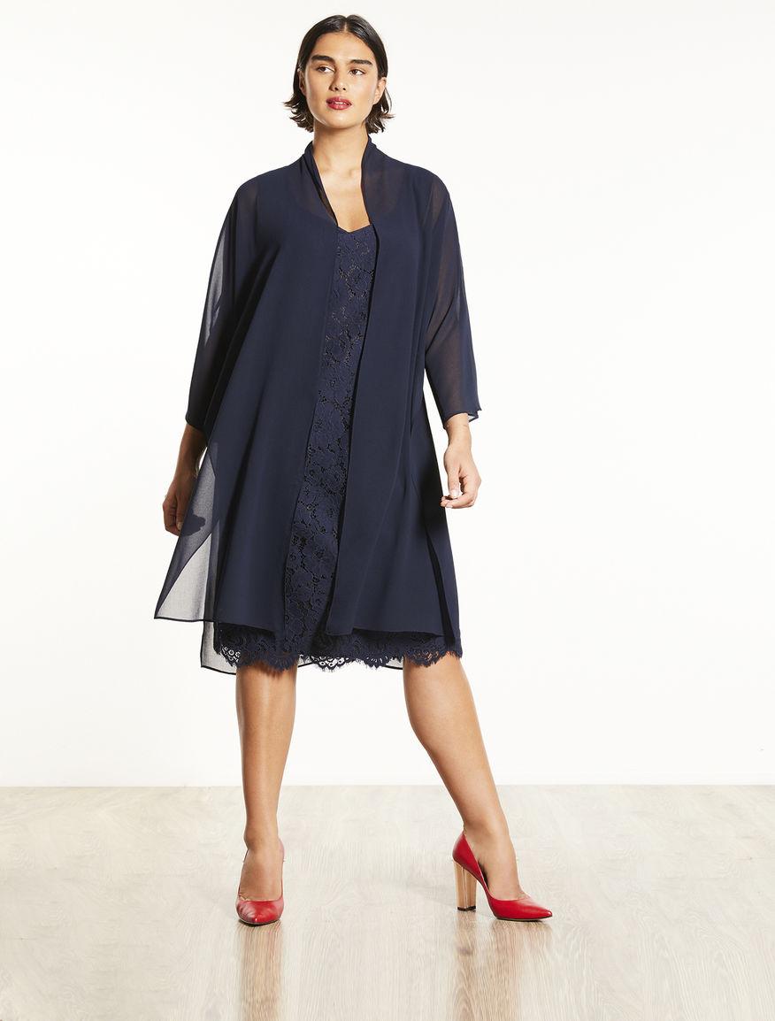Georgette duster coat