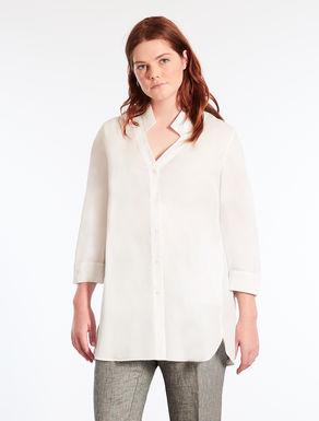 Long cotton poplin shirt
