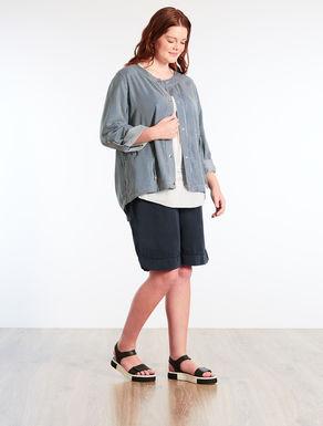 Striped denim tencel shirt