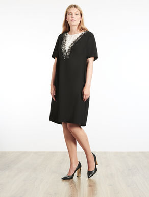 Satin-lined crêpe dress