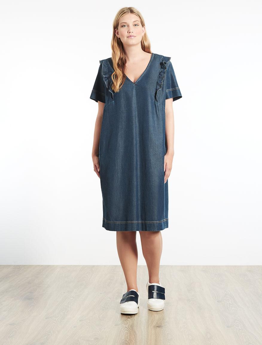 Lightweight stretch denim dress