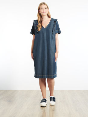 Robe en denim stretch léger