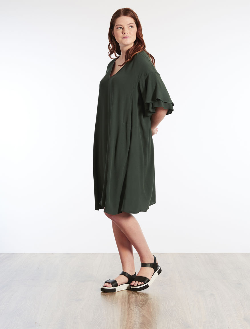 Viscose marocain dress