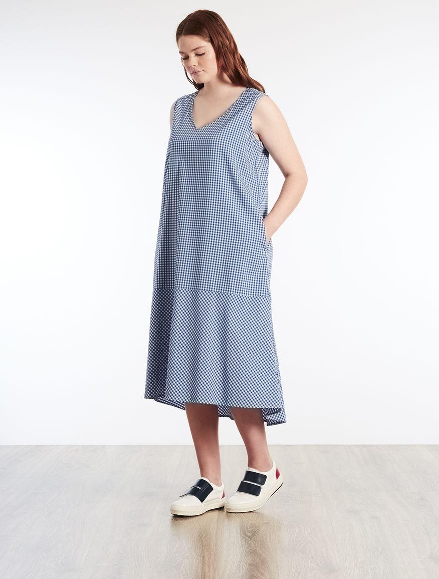 Cotton blend long dress