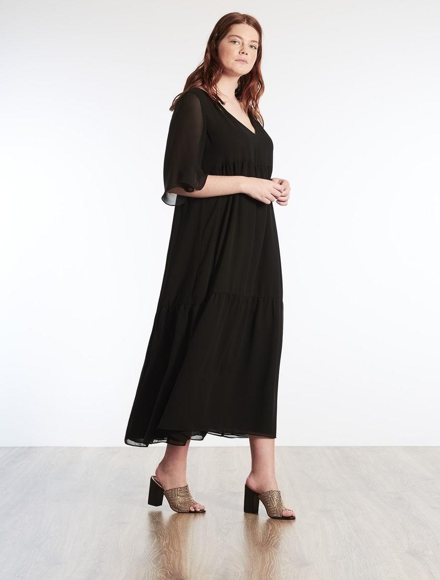 Flounced georgette dress