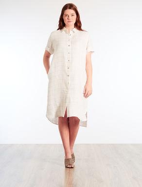 Linen shirt-dress