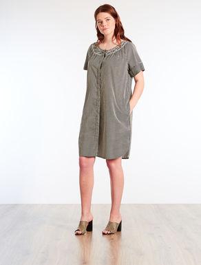 Striped cotton voile dress