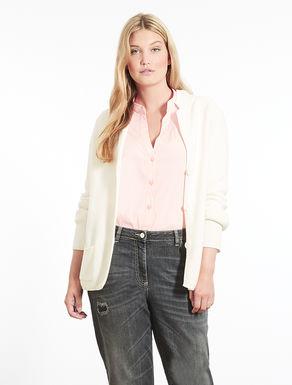 Blazer-style cotton cardigan