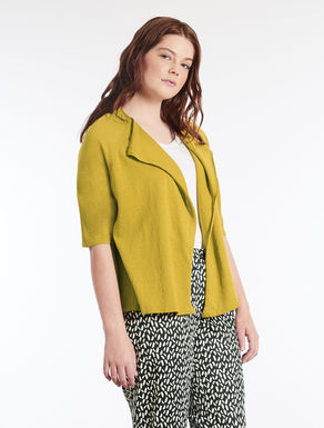 Cotton and linen blend cardigan