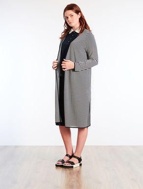 Floaty long viscose cardigan