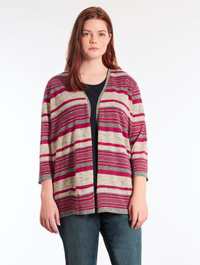 Striped linen cardigan