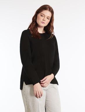 Stretch viscose sweater
