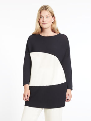 Viscose sweater with inlay