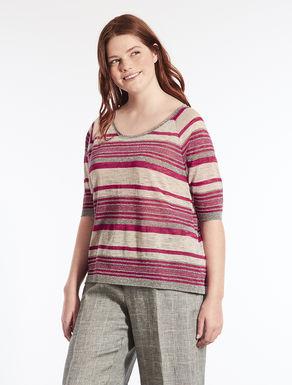 Jersey de lino de rayas