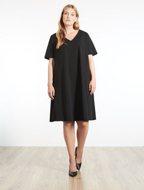 Stretch crêpe dress