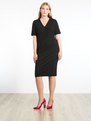 Ribbed jersey tube dress
