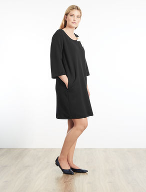 Matellassé jersey dress