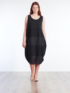 Cotton and muslin jersey dress