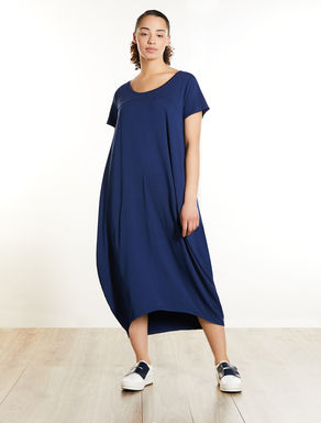 Viscose jersey colour-block dress