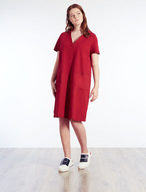Cotton and poplin jersey dress