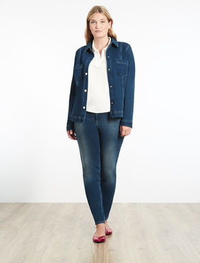 Denim jersey jacket